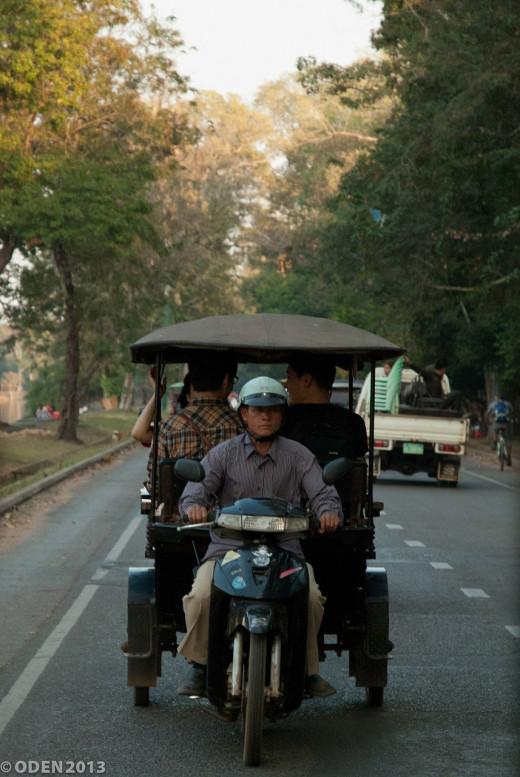 Modern day rickshaw.