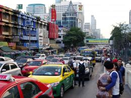 Thailand traffic jam.