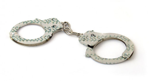 Handcuffs made of money