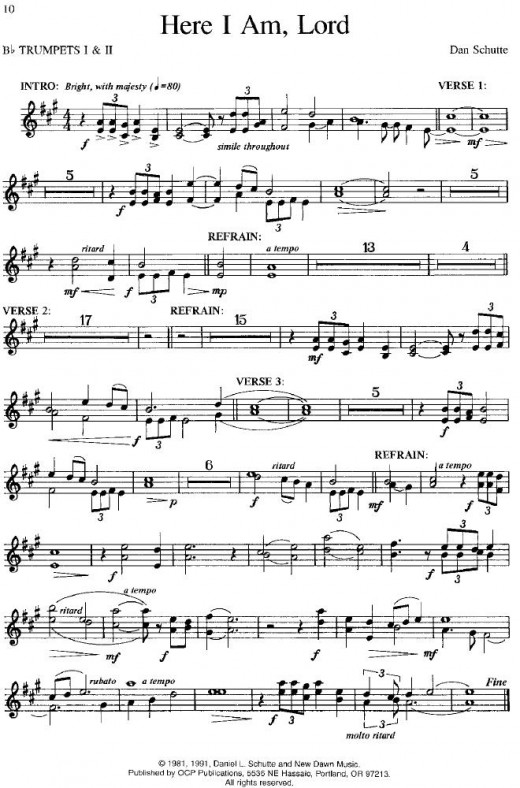 here i am lord sheet music free download