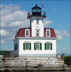 Esopus Meadows Lighthouse on the Hudson River In New York