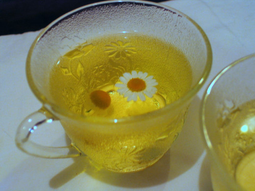 Keep calm and drink camomile tea!