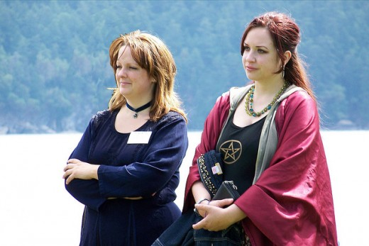 Two ladies at a pagan pride event in 2009. Even if you create your own form of paganism, you can still meet like-minded people at such events.