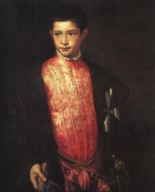 Titian, Portrait of Ranuccio Farnese (1542), Washington National Gallery of Art
