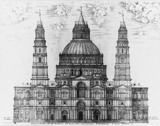 Antonio da Sangallo, Project for the Basilica of St. Peter (a. 1545)