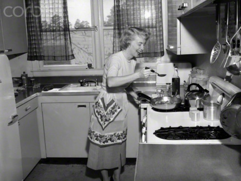 "She is a REAL chef. The homemaker of the early to late 1950s cooked the best meals and on mostly a ""shoe string budget"""