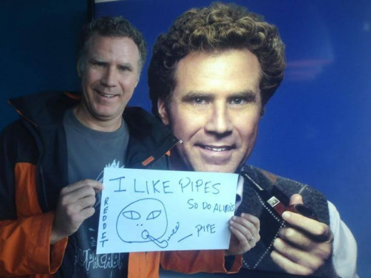 Actual Will Ferrell childlike art. Note the reference to pipes.