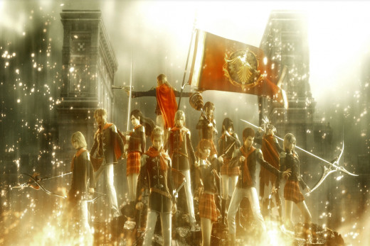 Final Fantasy Type 0 Wlakthrough Begins. Class 0 cadets need to reclaim the lands of the Dominion of Rubrum.
