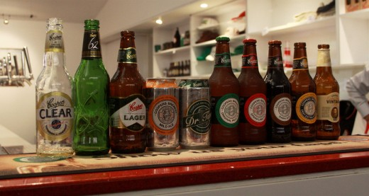 Pale Ale and Sparkling Ale (Green and Red labels) are the most popular Coopers beers.
