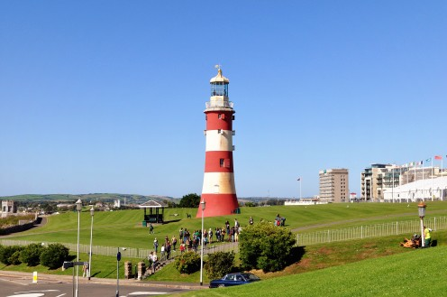 This lighthouse used to be the top part of the Eddystone lighthouse
