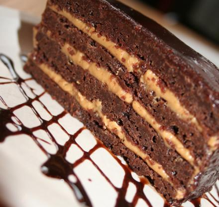 Chocolate Peanut Butter Brownie Terrine