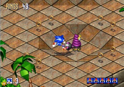 The Sega Saturn version of Sonic 3D Blast