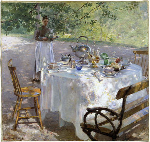, Hanna Hirsch-Pauli's painting Breakfast - Time from 1887
