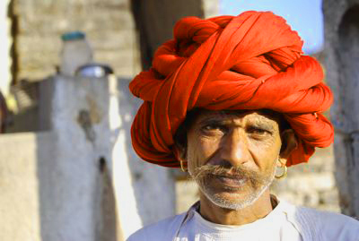 Turban worn by people of Gujarat.