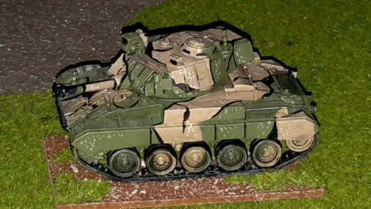 A modified M24 Chaffee from my own modern 3rd World  collection.