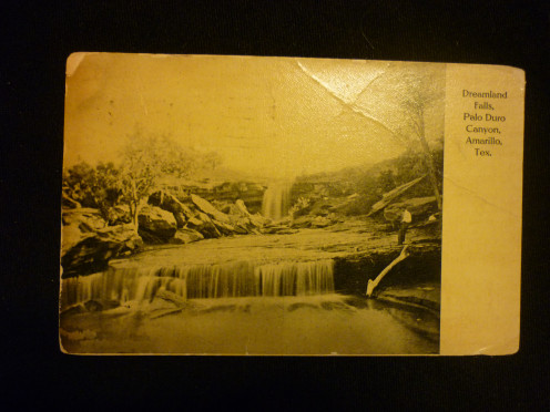 Vintage Post Card of Palo Duro Canyon, Amarillo, Texas