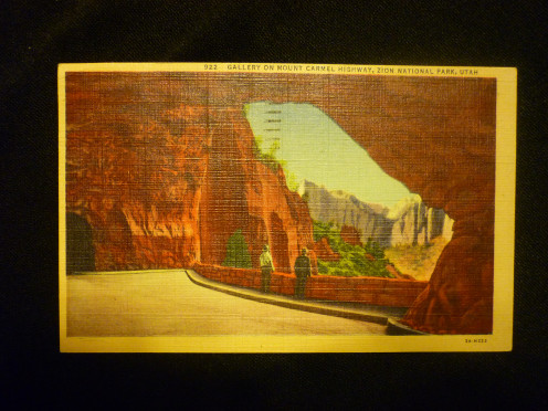 Vintage Post Card of Zion National Park