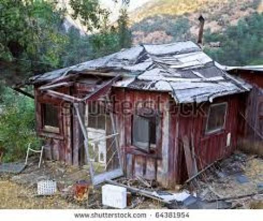 "Facsimile of Curt Glenn's ""home made"" home"