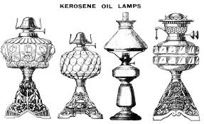 Kerosene lamps were the source of light inside the Glenn's house