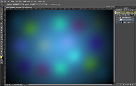 how to change the background layer size
