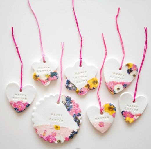 Beautiful Clay Ornamental Tags