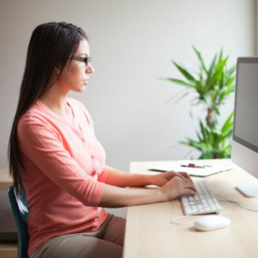 Most people I see don't maintain good posture at the computer!