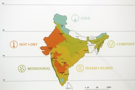 Weather And Climate Map Of India Showing Monsoon Temperatures Etc
