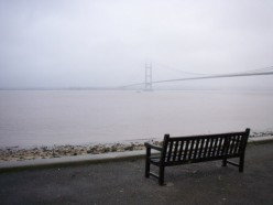 A misty Humber, from Hessle, East Riding of Yorkshire, England