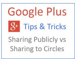 Google Plus Tips - Sharing Publicly vs Sharing to Circles