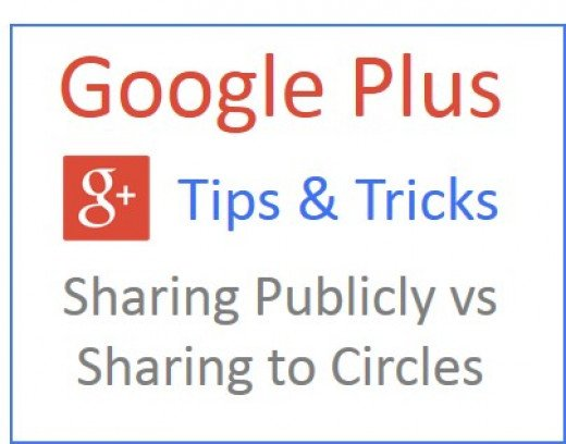 Find out how to share publicly and to your circles in Google Plus