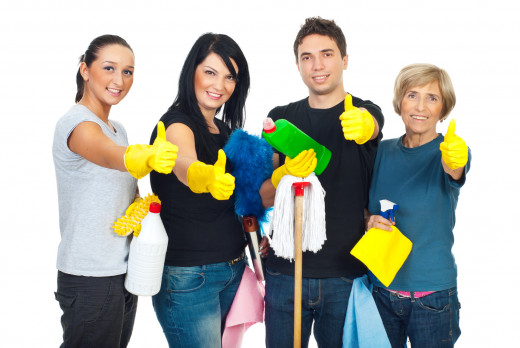 Cleaning can be more fun if done with friends.