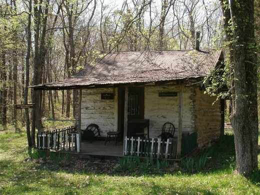 An old cabin in the Ozarks...perhaps some of these Old Wives Tales were one told here.