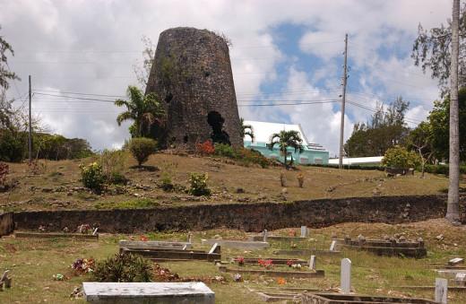 sugar mill ruins- Barbados