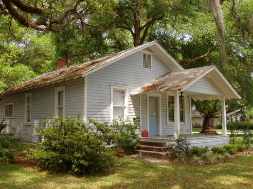 "The house in House in Orlando where Beat Generation author, Jack Kerouac lived.  He wrote his novel, The Dharma Bums here in the 1950s.  The books concerns a protagonist looking for a ""Buddhist"" context to his experiences."