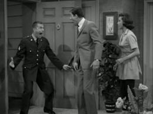"""Jerry and Dick Van Dyke along with Mary Tyler Moore on  """"The Dick Van Dyke Show"""""""