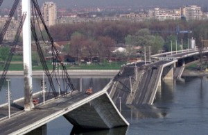All bridges (almost except 1.) linking Belgrade with A.P Vojvodina county and rest of Yugoslavia were boomed and destroyed as displayed on one of pictures of mine taken at 99'.