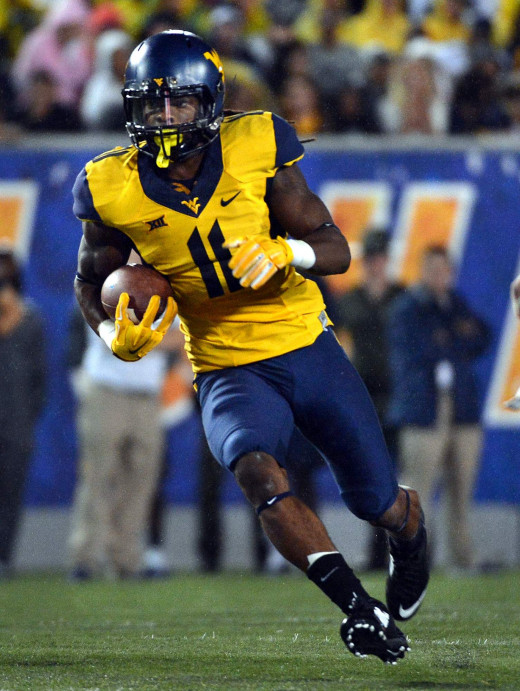 West Virginia wide receiver Kevin White