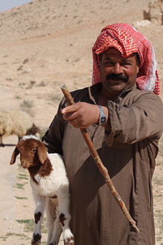 Just as his ancestor Abraham (or Ibrahim as he knows him). A Bedouin in Syria