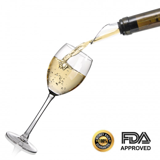 The super thing edge of the wine pourer guarantees hassle free wine experience