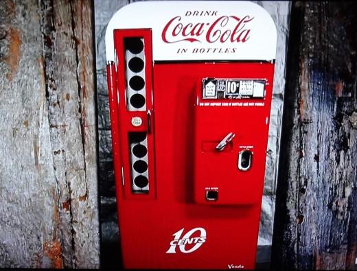 Ten Cent Bottle dispensing Coca-Cola machine