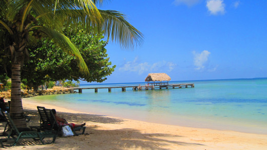 Pigeon Point is one of the most popular beaches in Tobago and close to the airport