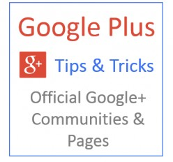 Official Google Communities & Pages on Google Plus