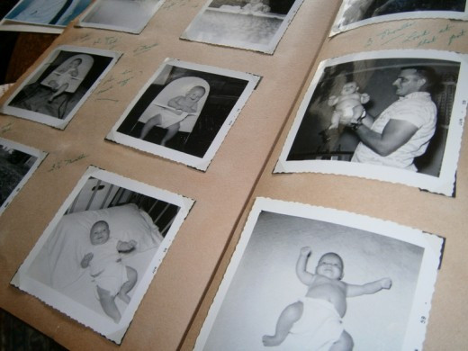 A page from one of my Family Albums.  These are photos of my first born.