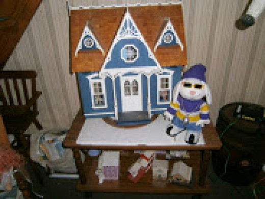 My children and I spent many hours building this doll house.  It is now at a Daughter's house.