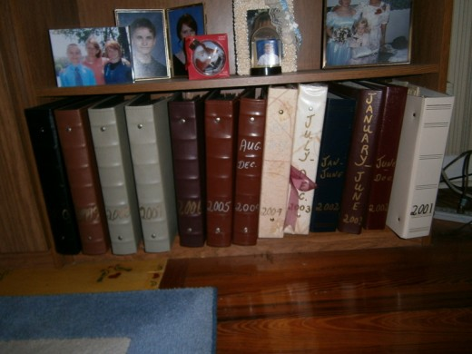 This is just a few of my Family Albums