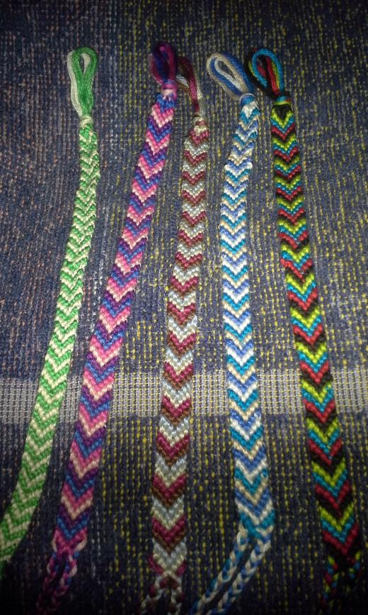 Arrowhead pattern bracelets.