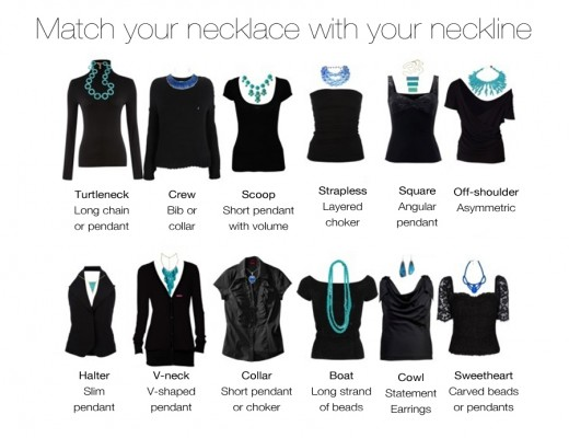 Match your Necklace with your neckline