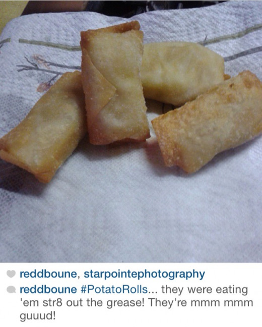 POTATO ROLLS I made once I started becoming the egg roll wizard.