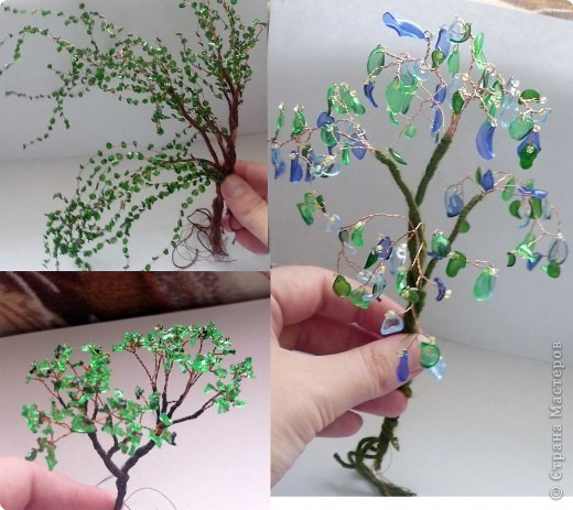 Plastic bottle craft bonsai tree for Craft from waste