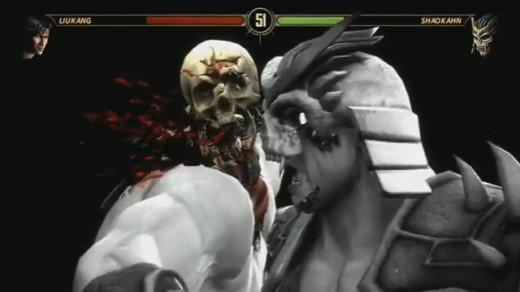 Shao Kahn's devastating x-ray attack.